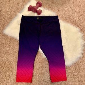 Xersion Ombré Colored Crop Activewear Leggings